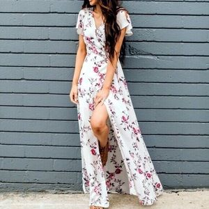 Spring Maxi Dress In Floral Pattern
